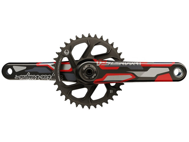 Truvativ Desc Eagle DH CoLab Troy Lee Designs Pédalier 36T DM, red